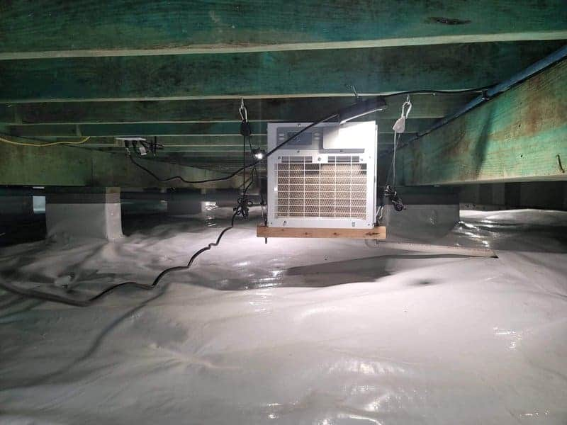 crawl space repair - crawl space dehumidifier installation