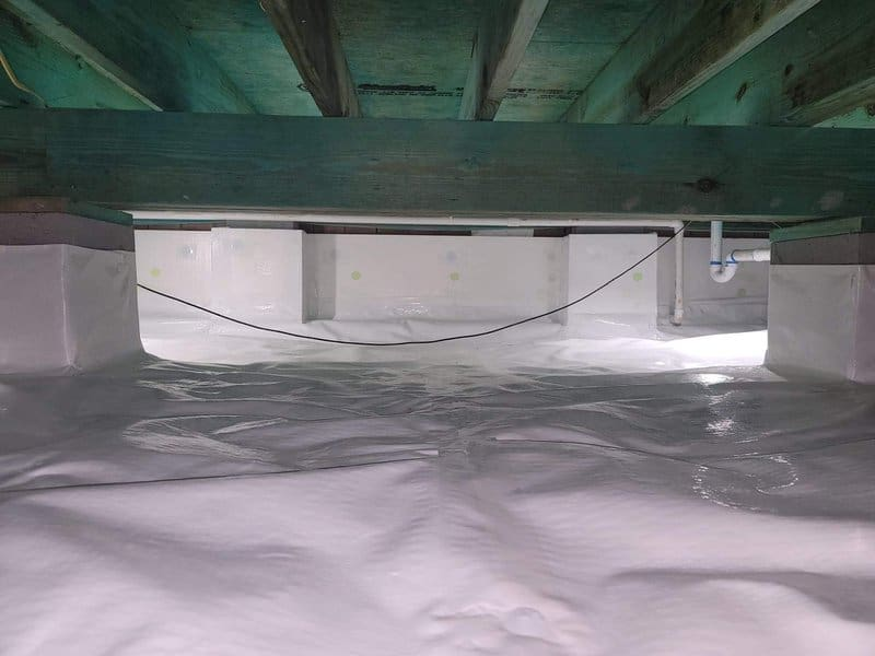 waterproofing a crawl space with crawl space encapsulation
